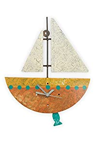 Oxidos Recycled Fair Trade Sailboat Clock (Brown)