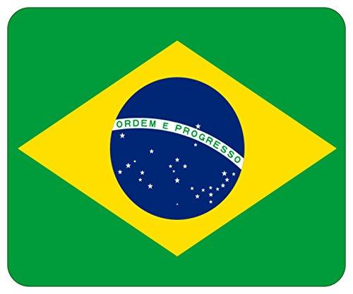 Mousepad bedruckt mit Flagge Fahne Brasilien