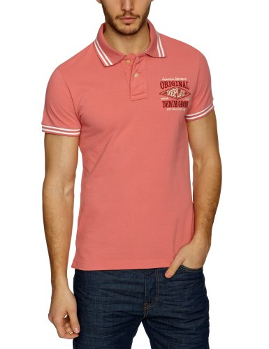 Replay M6029 Polo Men's T-Shirt Pink X-Large