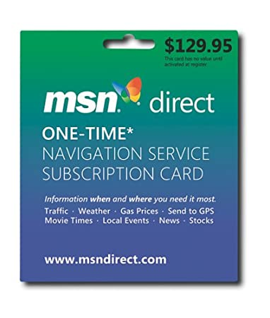 Microsoft MSN Direct One-Time Payment Subscription (Service Non-transferable)