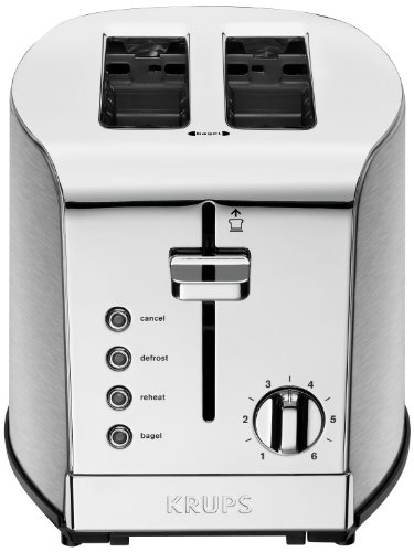 KRUPS KH732D Breakfast Set 2-Slot Toaster with Brushed and Chrome Stainless Steel Housing, 2-Slice, Silver (Frigidaire Toaster compare prices)