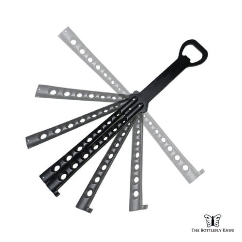 The Original Bottlefly Knife Butterfly Knife Bottle Opener (Black) Home & Kitchen