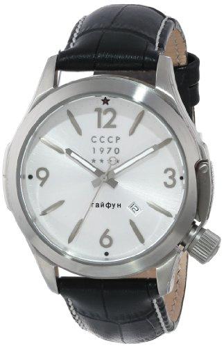 CCCP Men's CP-7010-01 Shchuka Analog Display Swiss Quartz Black Watch