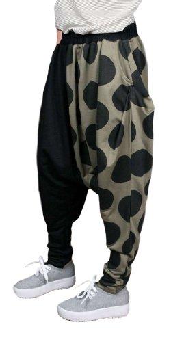 Baggy Women Harem Hippie Hip-Hop Big Dots Pattern Pants Tights