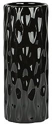Satorie Ceramic Vases (18 cm x 7 cm x 7 cm, Black, Sat-0050)
