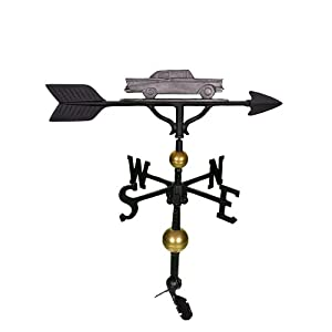 Montague Metal Products 32-Inch Deluxe Weathervane with Swedish Iron Classic Car Ornament