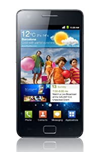 Samsung Galaxy S II GT-I9100 Unlocked Phone with 8MP Camera and Touchscreen - International Version (Black)