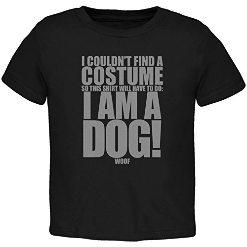 Halloween Cheap Dog Costume Black Toddler T-Shirt