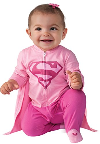 Rubie's Costume Baby Girl's DC Comics Superhero Style Baby Supergirl Costume, Multi, 6-12 Months