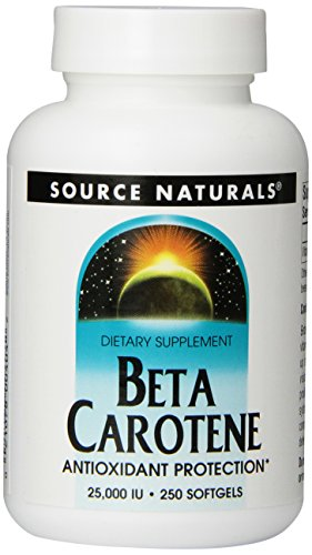 Source Naturals Beta Carotene 25,000IU, Antioxidant Protection Against Free Radicals, 250 Softgels