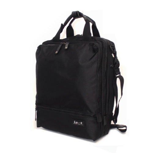 (アイエスプラス) is・+ diversityシリーズ PC収納BAG付き 縦型3ルーム 3WAY ビジネスバッグ 230-1055