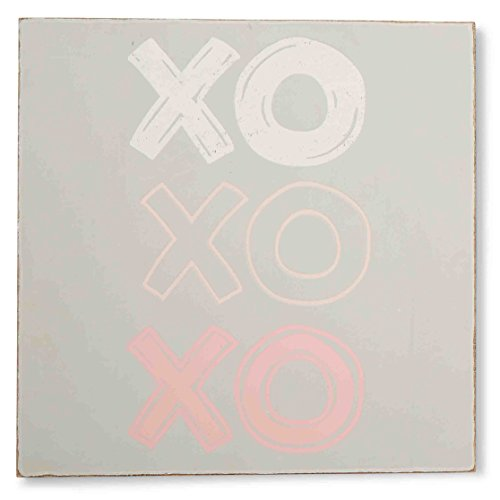 Mud Pie Plaque, Xoxo, Pink
