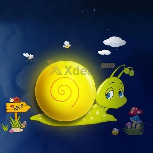 LED Light Control Wall Night Lamp 3d Snail Kids Baby Bedroom +Wall Sticker Decal