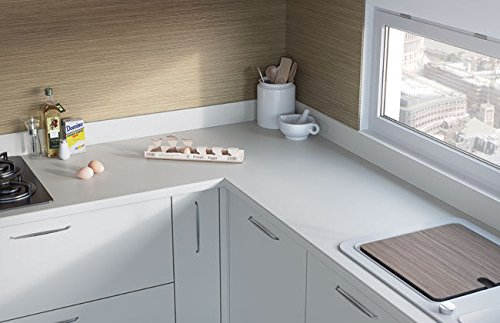 Egger Contemporary Premium White Effect Kitchen Bathroom Laminate Worktop Offcut Work Surface 40mm Breakfast Bar - 3m x 1200mm x 8mm Splashback