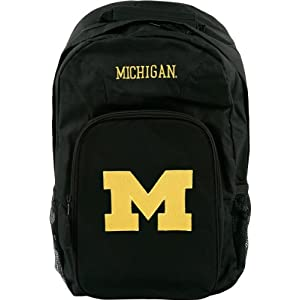 Michigan Wolverines Black Youth Southpaw Backpack