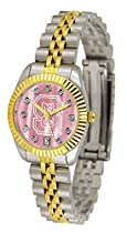 NCSU NC State Wolfpack Ladies Gold Dress Watch With Crystals