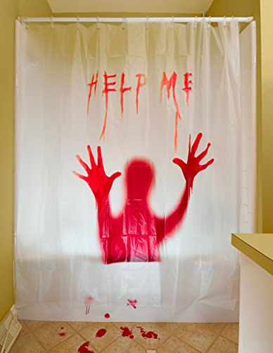 prextex-3-pc-horror-bloody-halloween-decor-includes-bloody-help-me-shower-curtain-bloody-footprints-
