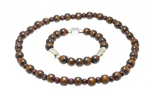 beautiful-wood-bead-surf-surfer-style-bracelet-choker-elasticated-set-167-colour-may-vary-as-natural