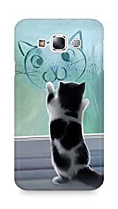 Amez designer printed 3d premium high quality back case cover for Samsung Galaxy E7 (Cats and Cat)