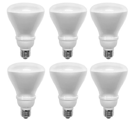 Tcp 14 Watt Soft White Compact Fluorescent Flood Light Bulb 6 Pack