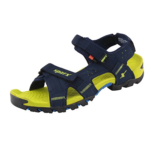 Sparx-Mens-Blue-Green-Sandals-SS-447