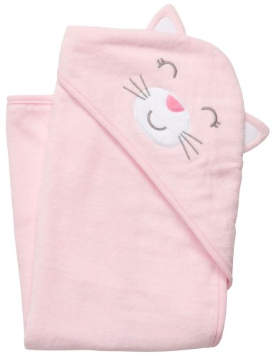 Carter's Hoodie Towel - Pink Kitten