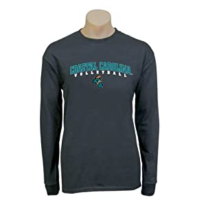 Coastal Carolina Black Long Sleeve T-Shirt-Large, Volleyball