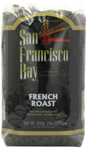 San Francisco Bay Coffee, French Roast Whole Bean Coffee, 32-Ounce Bags (Pack of 2)