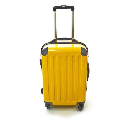 Hartschalen Koffer Gelb Hochglanz max.87 L Reisetrolley