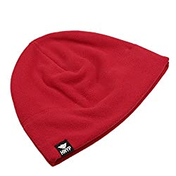 Home Prefer Winter Outdoor Watch Hat Simple Solid Warm Daily Beanie Cap Red