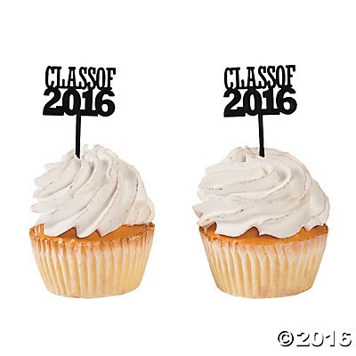 Class of 2016 Cupcake Food/Appetizer Picks for Graduation Party - 72 pc