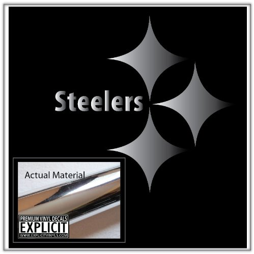 Pittsburgh Steelers Large Chrome Vinyl Decal