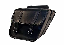 Willie & Max Braided Series Standard Slant Saddlebag Set - SB701