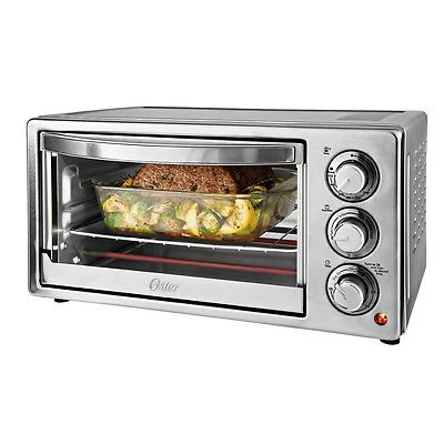 Toaster Oven Oster 6 Slice Convection Silver Stainless Steel Toast Bake Broil (Small Convention Oven compare prices)