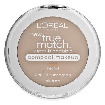 L'Oreal Paris True Match Super-Blendable Compact Makeup, Spf 17, Buff Beige, 0.30 Ounce, 2 Ea (Pack of 2)