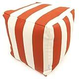 Majestic Home Goods Burnt Orange Vertical Strip Cube, Small