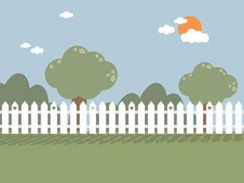 Landscapes - Picket Fence Peel and Stick Fabric Wall Sticker by Wallmonkeys Wall Decals