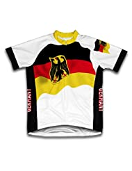 Germany Flag Short Sleeve Cycling Jersey for Women