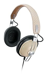 Panasonic RP-HTX7AE-C Lightweight Retro Style Monitor Headphones with Single Side Cord and One Side Monitoring System- Cream