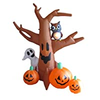8 Foot Halloween Inflatable Ghost Dead Tree and Owl Pumpkins 2012 Garden Yard Decoration