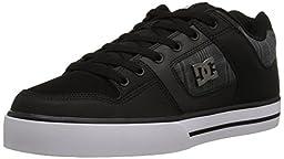 DC Men\'s Pure SE Skate Shoe, Black/Black, 8.5 M US