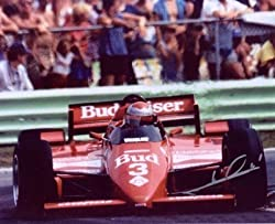 Mario Andretti Signed 16X20 Photo - &quot;Budweiser Car Front&quot;