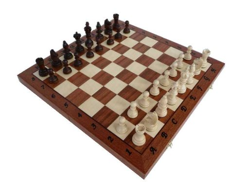PETIT OLYMPIQUE, bois plein, incrusté jeu d'échecs