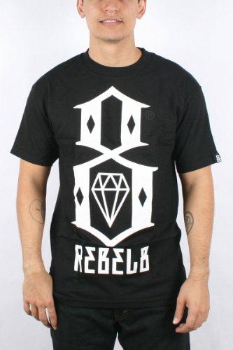 Rebel8 - Logo Mens T-shirt in Black, Size: Small, Color: Black