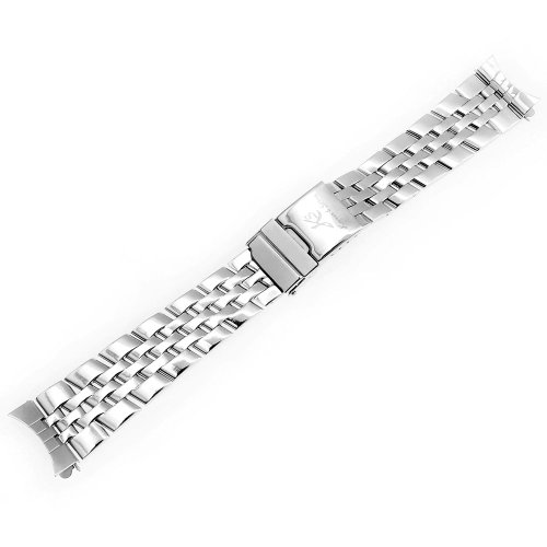 KS Official 22mm Silver Stainless Steel Watch Band/Strap with Pin Watchbands WTL024