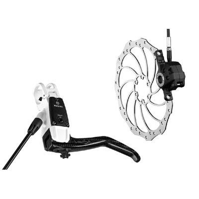 Magura 2011 Louise Carbon BAT (Bite Adjust Technology) - Mountain Bike Disc Brake (White - Front LH 1650mm)