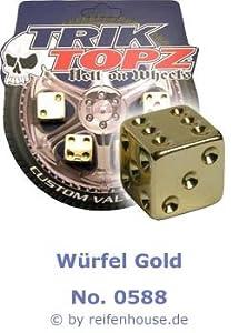 Ventilkappen Würfel Gold 4er Set (Nr. 0588)