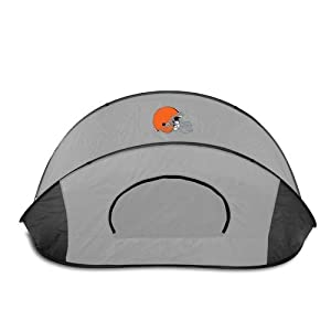Cleveland Browns Picnic Time NFL Manta Sun Shelter (Black/Gray) from Picnic Time