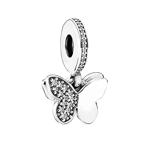 PANDORA Fluttering Butterflies Dangle 791844CZ