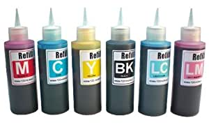 Ink refill set for CIS/CISS or refillable cartridges using Epson 98, 99 ink: Artisan 700, 710, 725, 730, 810, 800, 835, 837